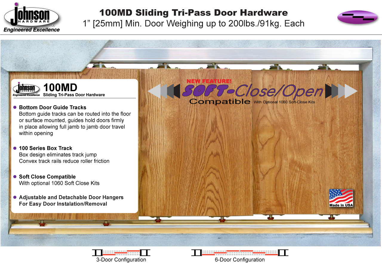 100MD Series Multi Pass Door Hardware