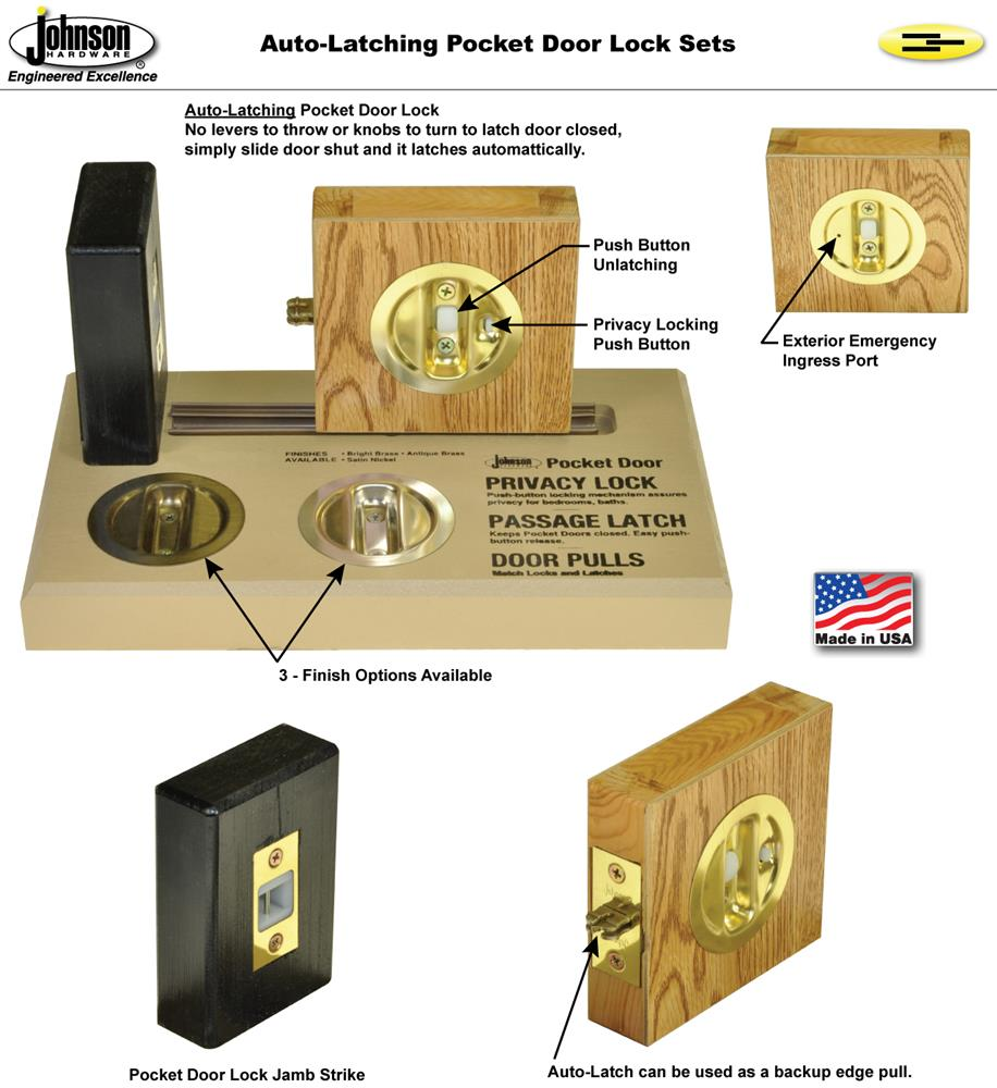 Beau Universal Handing, One Lock Functions In Both Right Or Left Slide  Direction. Ideal For Both Single Or Converging Pocket Door Applications.