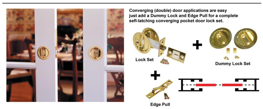 Hardware For Double Converging Pocket Doors : Door lockset functions sargent mortise lnl