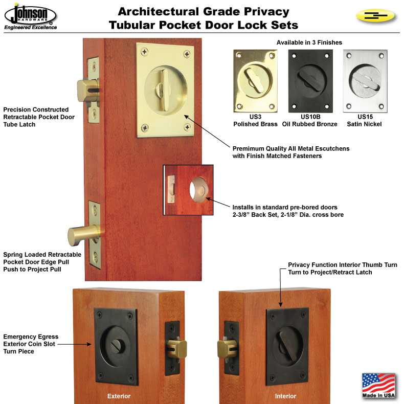 Pocket Door Lock Printed Installation Instructions