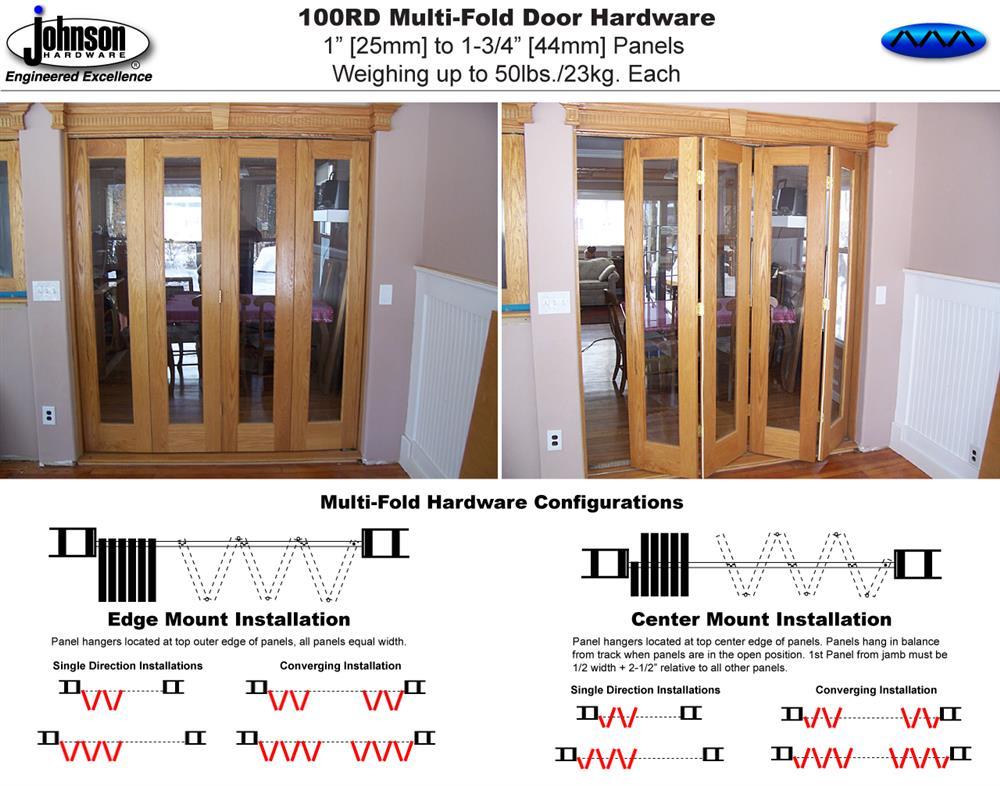 Johnson Hardware 100rd Multi Fold Door Hardware