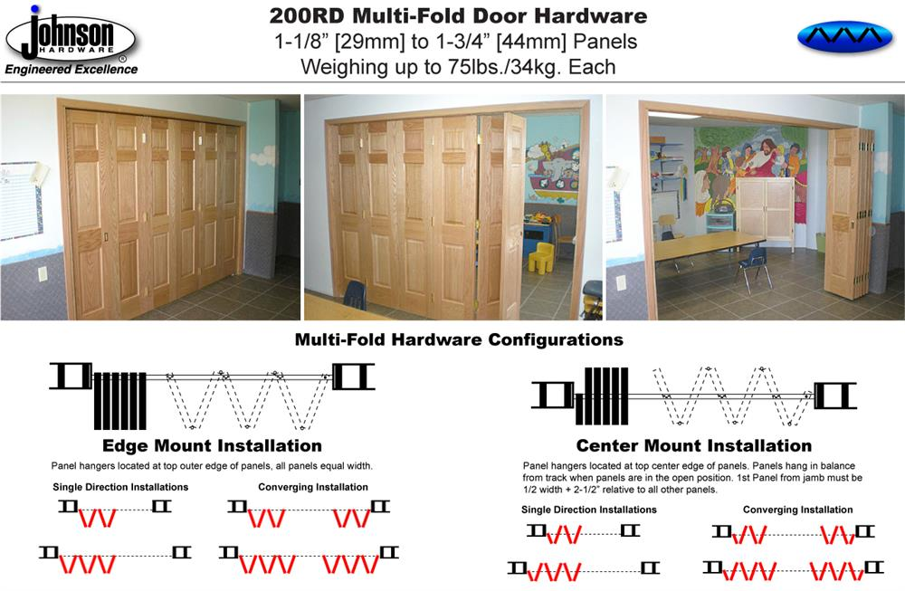 Johnson Hardware 200rd Multi Fold Door Hardware