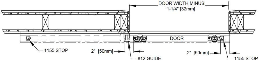 Johnson Hardware 2610F Wall Mount Sliding Door