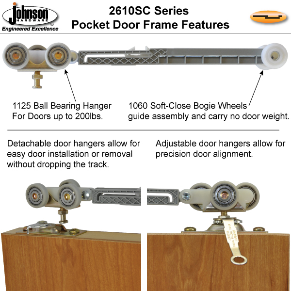 Johnsonhardware.com Sliding | Folding | Pocket Door Hardware. Johnson  Hardware 2610SC Soft Close Wall Mount Sliding Door Hardware