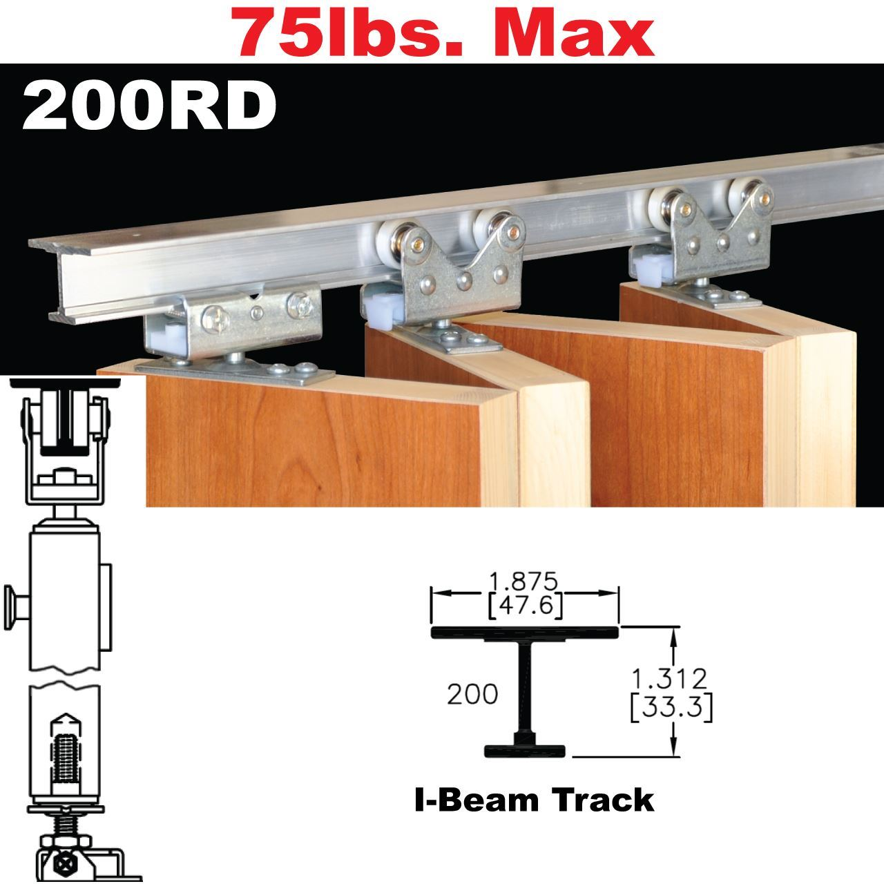Picture of 200rd multi fold door hardware