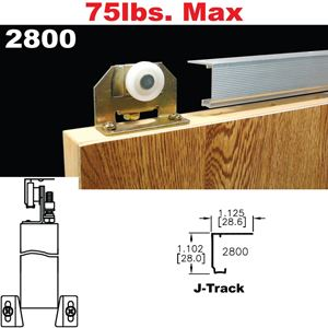 Picture of 2800 Single Rail Pocket/Sliding Door Hardware