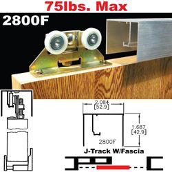 Picture of 2800F Open Pocket Door Hardware