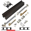 "Picture of 2610B72S 1 - 36"" Door Soft-Close Hardware Set, Bronze Finish Track"