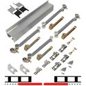 "Picture of 2610S362 2 - 36"" Door Soft-Close Hardware Set, Mill Finish Track"