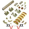 "Picture of 100FS 24"" 4-Panel Side Mount Hardware Set, 1-1/8"" [29mm] Door"
