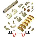 "Picture of 100FS 24"" 4-Panel Side Mount Hardware Set, 1-3/4"" [44mm] Door"