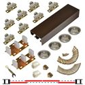 "Picture of 138F 24"" 4-Door Hardware Set, Bronze Track, Ball Bearing Hanger"