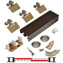 "Picture of 138F 36"" 2-Door Side Mount Hardware Set, Bronze Track"