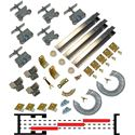 "Picture of 200MP 3 - 24"" x 2-1/4"" Tri-Pass Pocket Door Hardware Set"