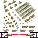 "Picture of 100BC 48"" (1-3/4"") x 4-Door Bypass Pocket Door Hardware Set"