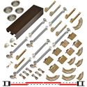 "Picture of 138FSMSC 24"" 4-Door Side Mount Soft-Close Hardware Set, Bronze Track"