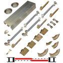 """Picture of 138FSMSC 36"""" 2-Door Side Mount Soft-Close Hardware Set"""