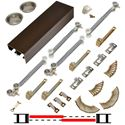"Picture of 138FSC 36"" Soft-Close 2-Door Hardware Set, Bronze Track"