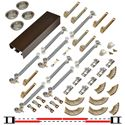 "Picture of 138FSC 24"" 4-Door Soft-Close Hardware Set, Bronze Track"
