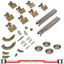 """Picture of 100SM 24"""" 4-Door Hardware Set, 1-3/4"""" [44mm] Door"""