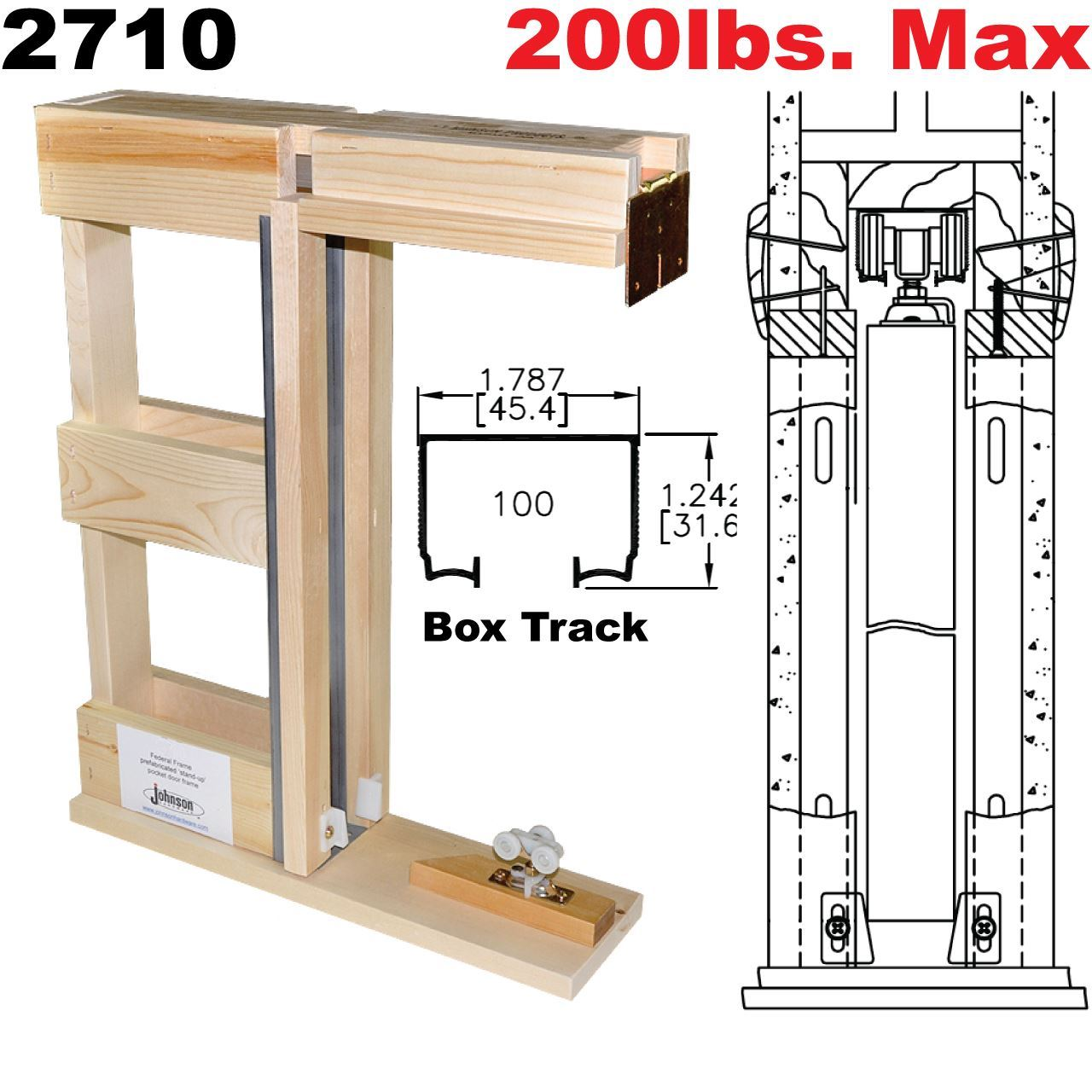 2710 Series Prefabricated Pocket Door Frame Kits