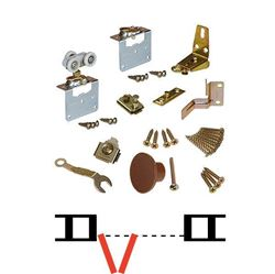"Picture of 1131FD19 2-Panel Side Mount Part Set WO/Hinges, 1-1/8"" [29mm] Panels"