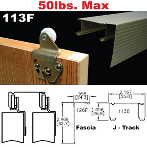 Picture of 113F Sliding Bypass Door Hardware