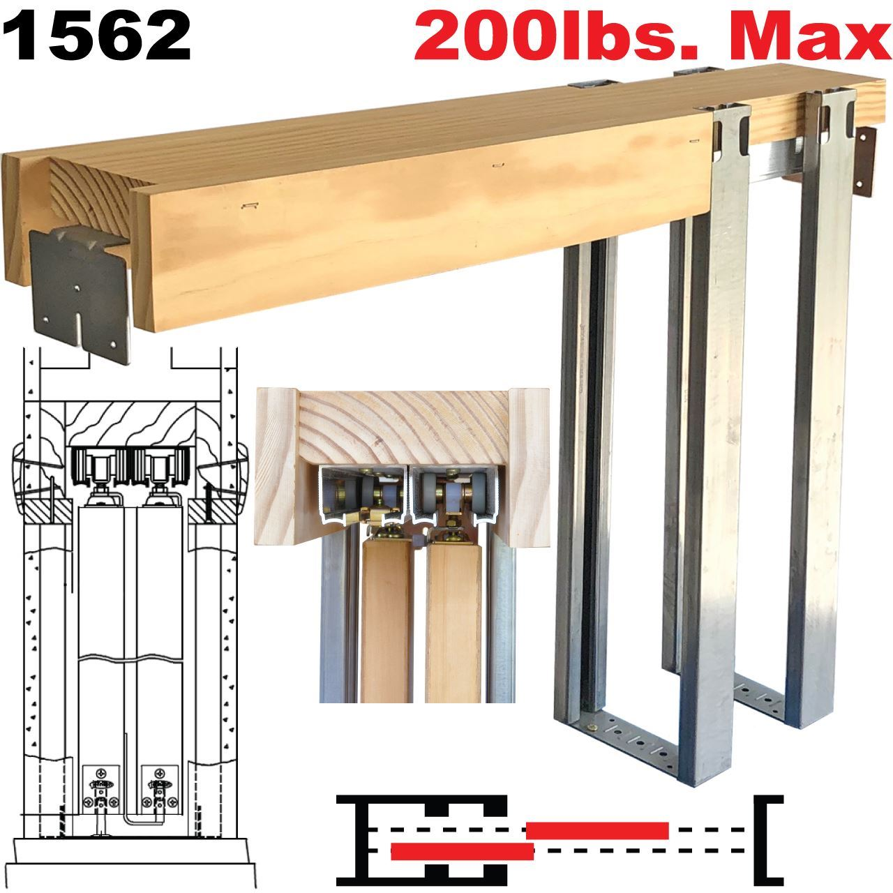 Picture Of 1562 Series Byp Pocket Door Frame Kits