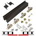 """Picture of 2610FB 30"""" 2-Door Hardware Set, Bronze Track"""
