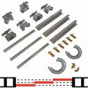 """Picture of 200MD 48"""" 3-Door Sliding Tri-pass Hardware Set"""