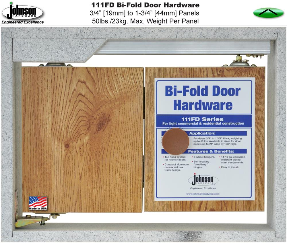 Johnson Hardware 111fd Bi Fold Door Hardware Sets