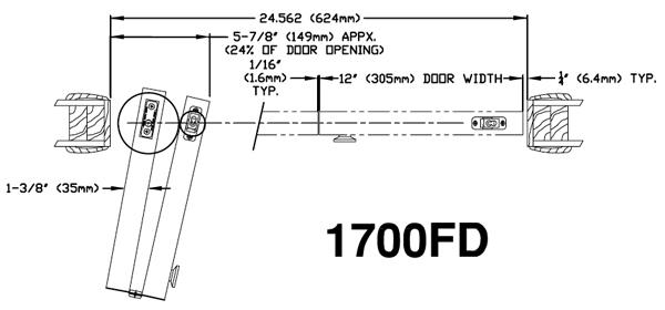 Johnson Hardware 1700 Bi Fold Door Hardware