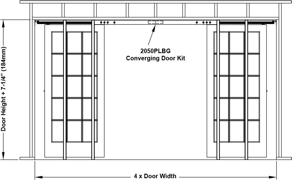Johnson Hardware 2060 Pocket Door Frame Johnsonhardware
