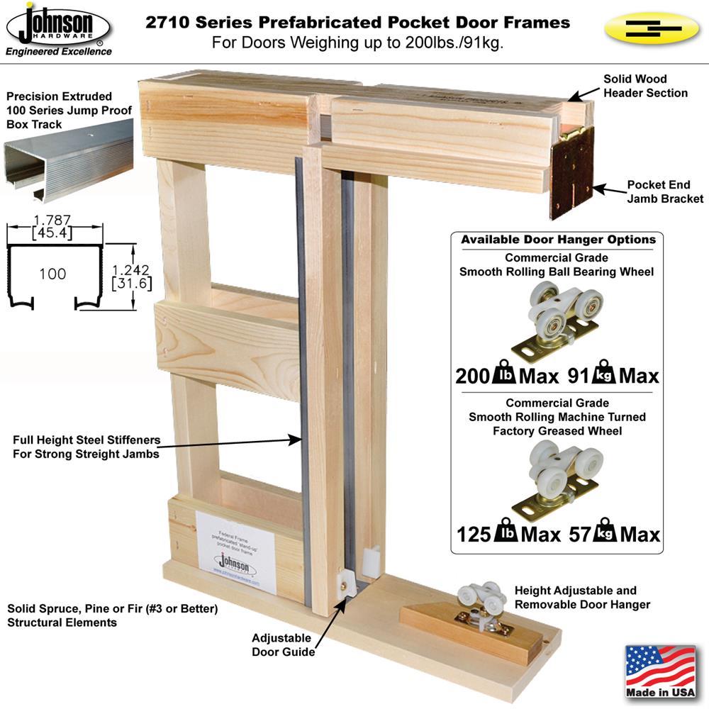 2710 Series Prefabricated Pocket Door Frame Kits Johnsonhardware