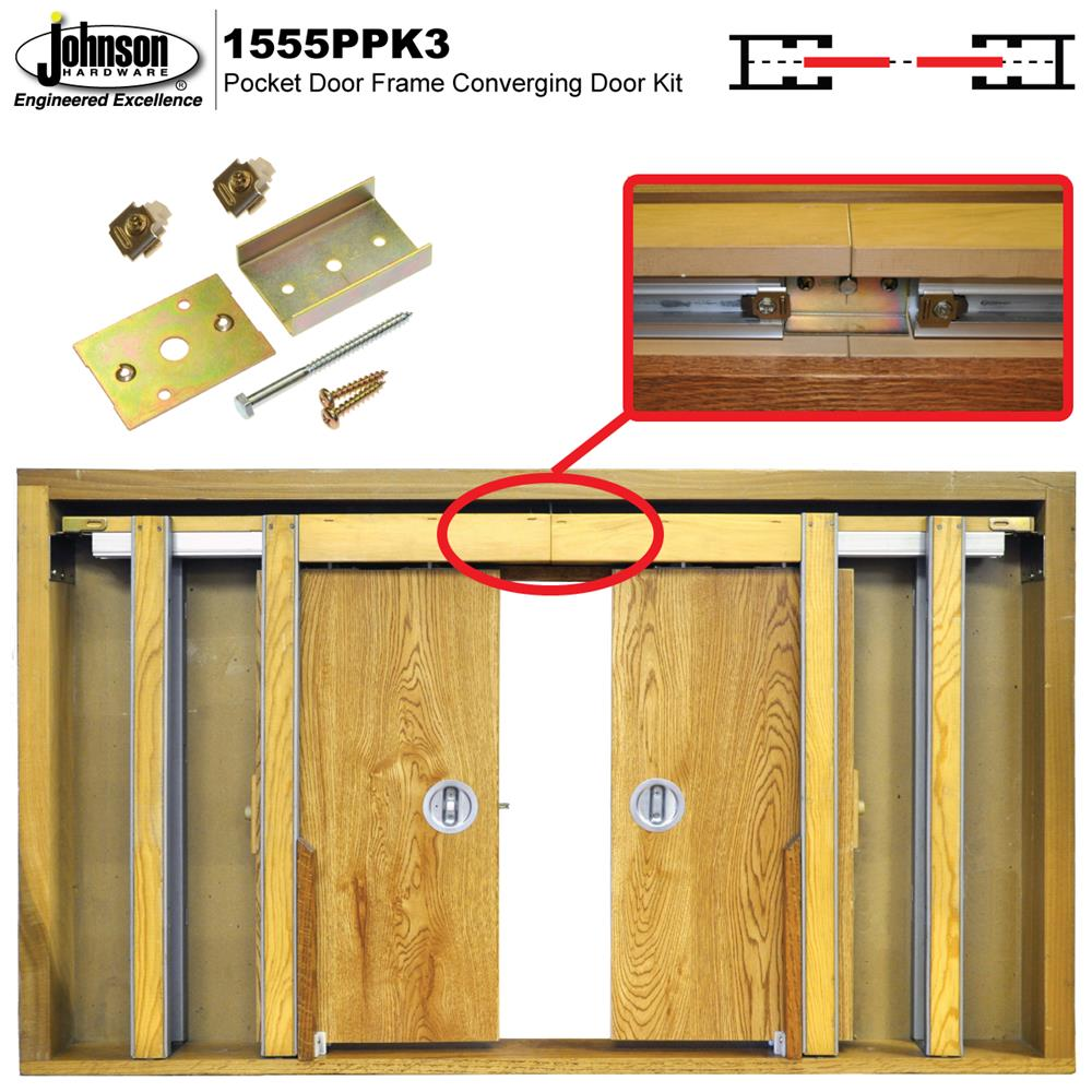 1555PPK3 Converging Door Kit | Johnsonhardware com | Sliding