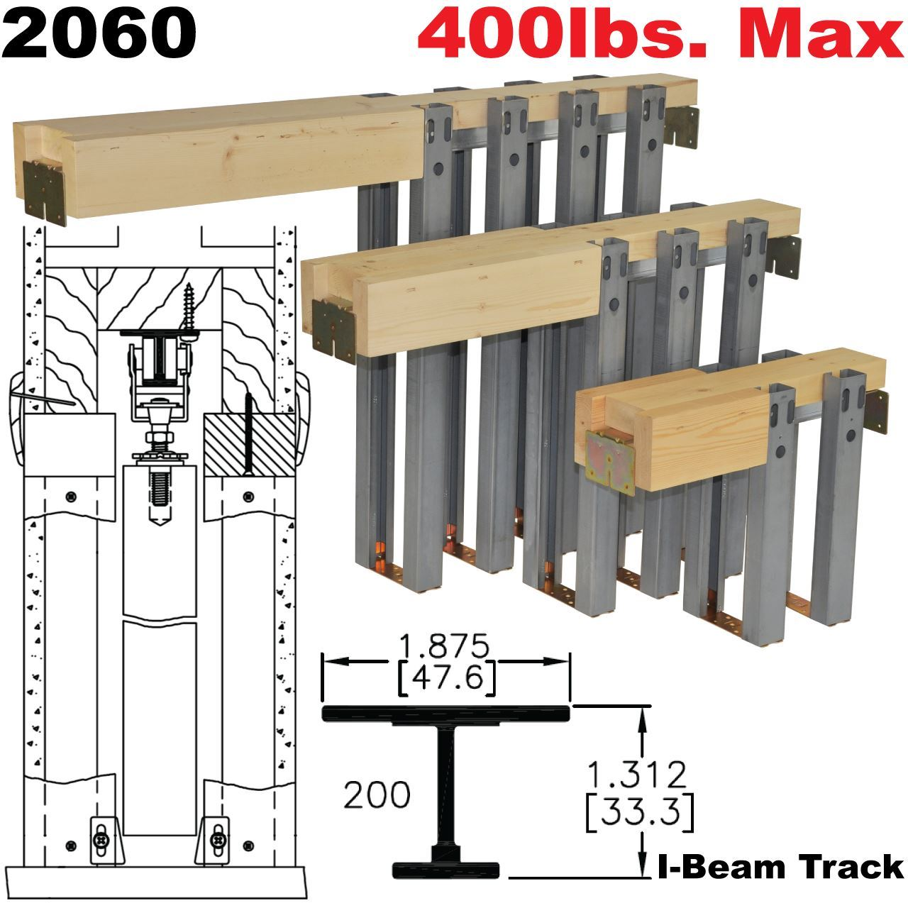 Picture Of 2060 Series Heavy Duty Pocket Door Frame Kits