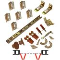 "Picture of 1825 12"" 4-Panel Hardware Set, Brown Track"