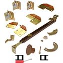 """Picture of 1601 12"""" 2-Panel Hardware Set, Brown"""