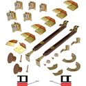 """Picture of 1601 12"""" 4-Panel Hardware Set, Brown"""