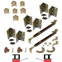 """Picture of 1601 12"""" 4-Panel Hardware Set, US5"""