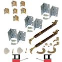 """Picture of 1601 18"""" 4-Panel Hardware Set, US15"""
