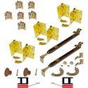 """Picture of 1601 24"""" 4-Panel Hardware Set, US3"""