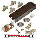 """Picture of 138F 24"""" 2-Door Hardware Set, Bronze Track, Ball Bearing Hanger"""