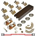 "Picture of 138F 24"" 4-Door Side Mount Hardware Set, Bronze Track"