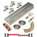 """Picture of 118F 24"""" 2-Door Hardware Set, Nylon Wheel Hanger"""
