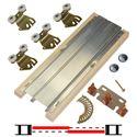 """Picture of 2222 24"""" 2-Door Hardware Set, 75lbs. [34kg] Door"""