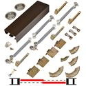 "Picture of 138FSMSC 36"" 2-Door Side Mount Soft-Close Hardware Set, Bronze Track"