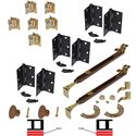 """Picture of 1601 12"""" 4-Panel Hardware Set, US10B"""