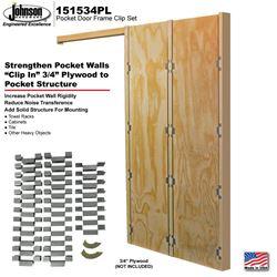 Picture of 151534PL Pocket Door Frame Reinforcement Clip Set