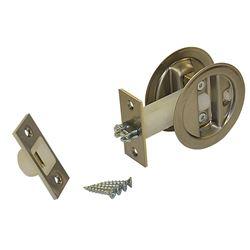 """Picture of 153415P1 Auto-Latching Pocket Door Lock Set, 1-3/4"""" Door"""
